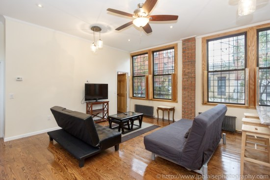 Real estate photographer work two bedroom in boerum hill brooklyn picture of living room
