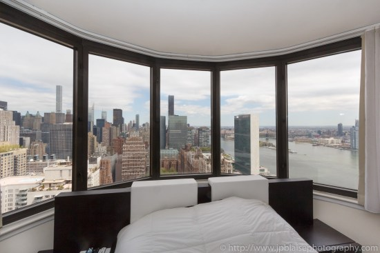 Real estate photography work studio apartment in midtown east New York