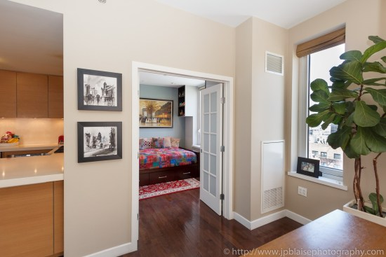 Second bedroom of midtown west apartment real estate photography