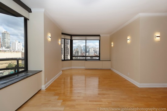Sutton place apartment photographer real estate interior NYC New york ny living room alcove