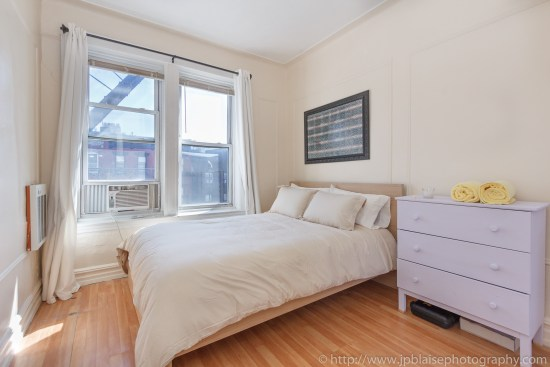bedroom 1 of NYC apartment photographer work cozy 2 bedroom 1 bathroom apartment in East Williamsburg Brooklyn