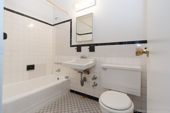 Apartment photographer work: bathroom of lower east side apartment