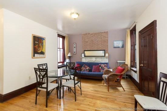 living room interior photographer work three bedroom apartment in harlem new york