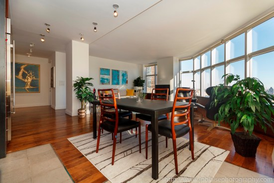 nyc apartment photographer lincoln square two bedroom real estate interior photo ny new york Dining