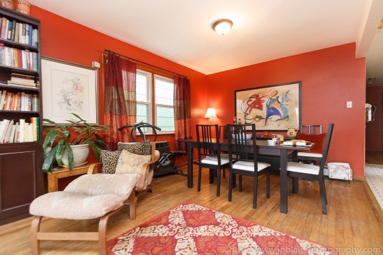 Real Estate Photographer Work: living room of apartment in Union City, New Jersey