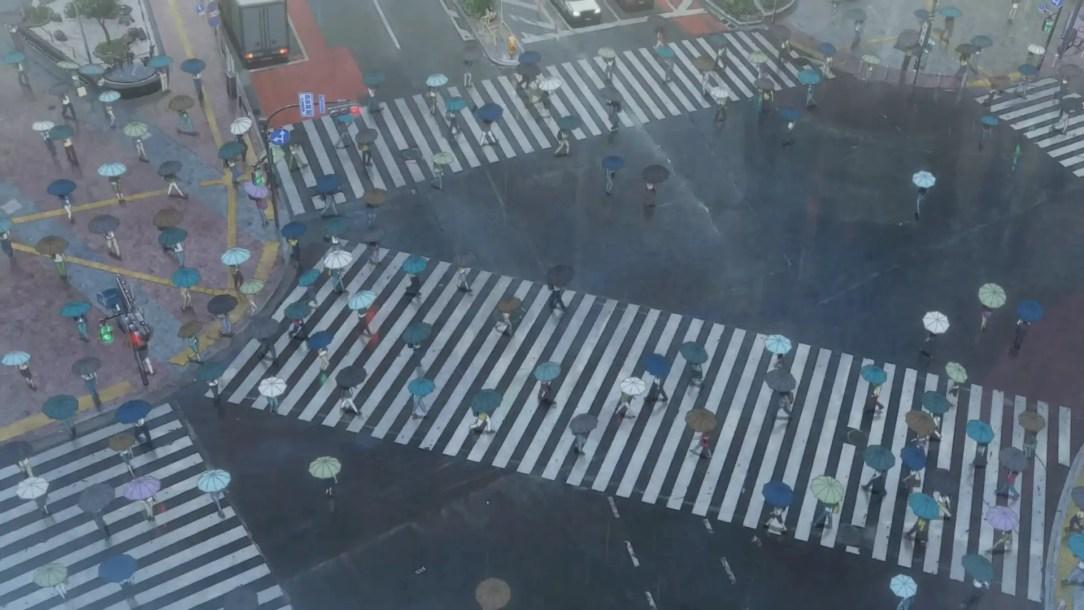 Shibuya Crossing in Tenki No Ko