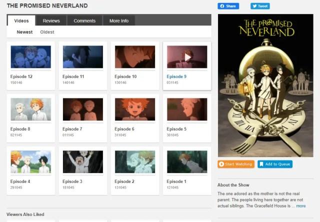crunchyroll anime library screenshot