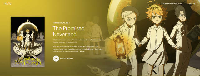 promised neverland Hulu cover image