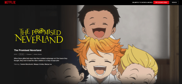 watch the promised neverland on netflix