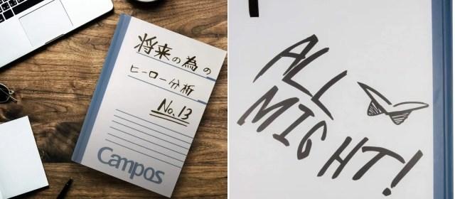 anime gift ideas for her - my hero academia diary