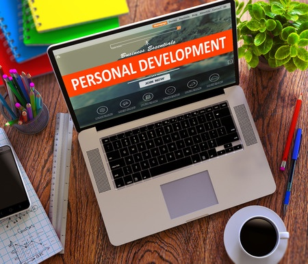 Personal development - laptop graphic
