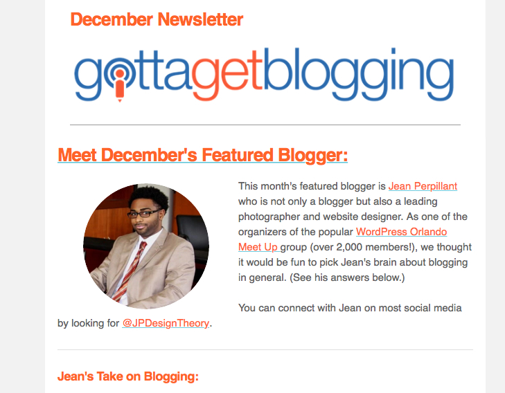 I Am Featured on Gotta Get Blogging!