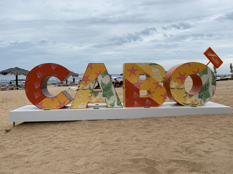 Cabo Sign on the beach