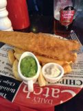 And serve up a mean Chips and Haddock with mushy peas. Yes, I ate the whole thing.