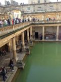 But I digress. Ancient Romans constructed this massive bath and temple complex in 43 AD. They traveled to Aquae Sulis, as the city was called, to enjoy these 115 degree hot springs and probably get a nice orange glow from the amount of minerals in here.
