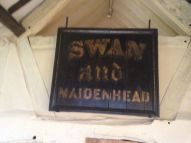 The back of the house was turned into a pub - The Swan and Maidenhead.