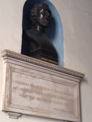 He showed us this bust in the hallway of Robert Browning (Elizabeth's husband) and told us the history of the building. Apparently he was descendants of the Brownings - a stroke of luck or a huge pick up line?