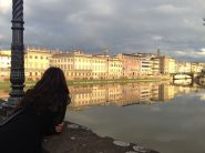 Charlotte's apartment is right on the Arno at Ponte Carraia. We caught this magical light at about 3:30.