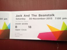 And where I happen to have traditional Pantomime tickets thanks to family friends. Jack and the Beanstalk is literary, right?