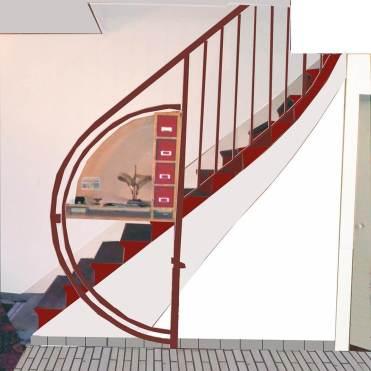 essais couleur sur l'escalier