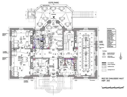 Plan du rez-de-chaussée haut