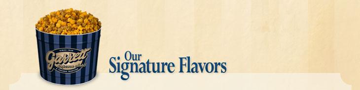 Our Signature Flavors(ギャレット ポップコーン シグネチャー フレーバー)