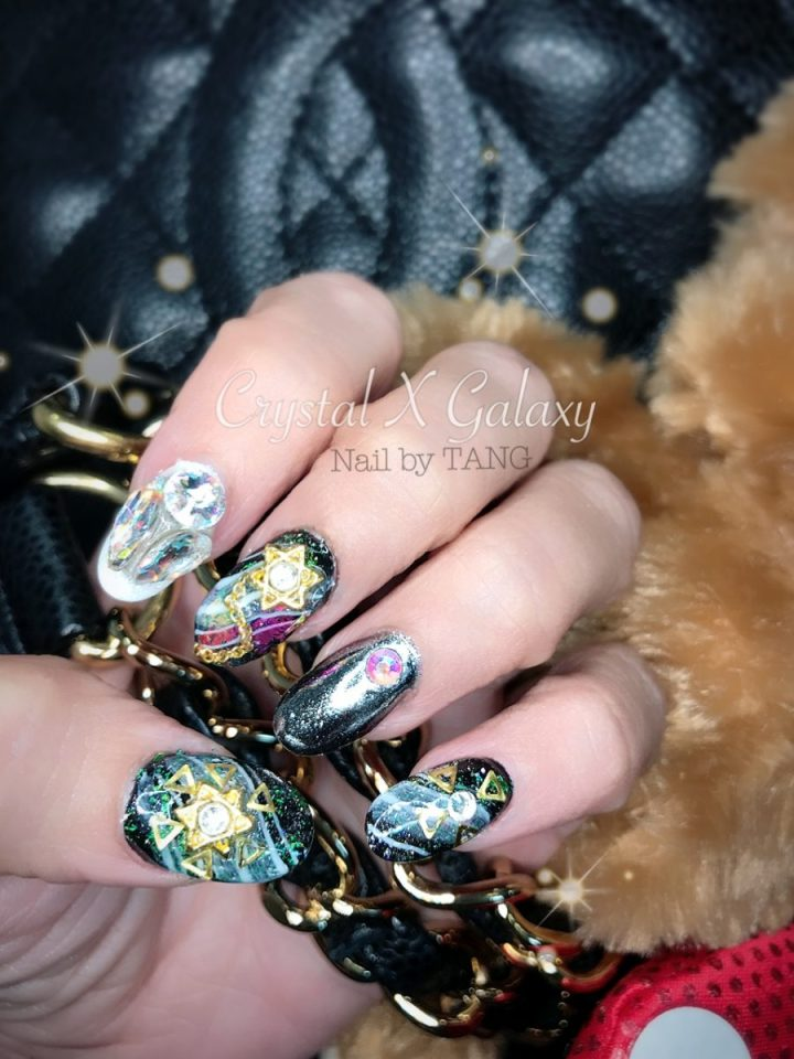 Nail by TANG Crystal X Galaxy Acrylic Extension Gel Mirror Nails Feb 2017 - Jpglicious (15)