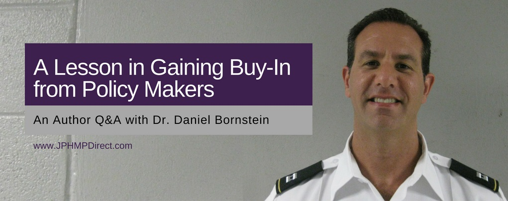 A Lesson in Gaining Buy-In from Lawmakers: An Author Q&A with Dr. Daniel Bornstein