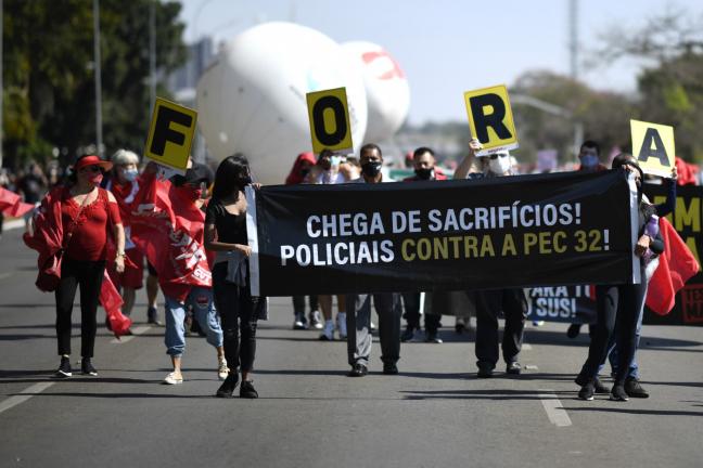 Manifestação contra governo Bolsonaro em Brasília