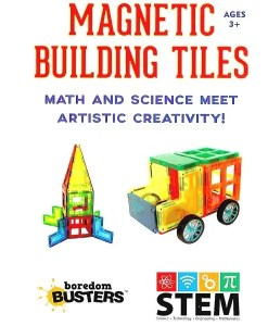 Magnetic Building Tiles - Boredom Busters Cover