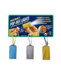 3-LED Flashlight Magnetic Pop Light (3 Pack)