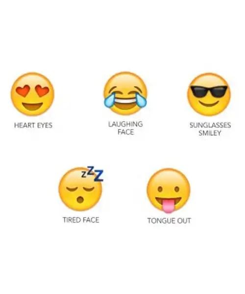 Emoji Earbuds - 5 Pairs of Assorted Emoji Headphones