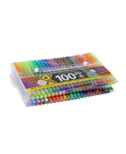 100 Gel Pens - With 8 Dazzling Effects Close