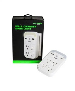 Multi-Function Wall Charger Plus Nightlight
