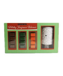 Holiday Wax Warmer Set Green - 3 Holiday Scents