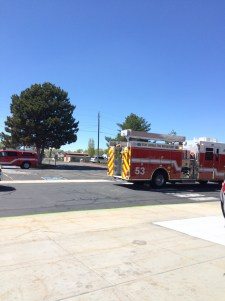 Fire truck outside of Joel P Jensen middle school. By: Chris Moore