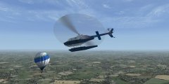 Des ballons dans Flight Simulator X