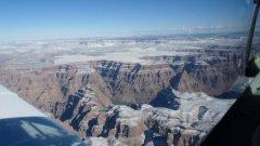 Le Grand Canyon sous la neige.