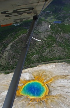 Thierry Barbier survolant Yellowstone