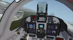 Cockpit du Super Tucano virtuel de Tim Conrad