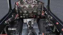 Cockpit du Fouga Zephyr virtuel