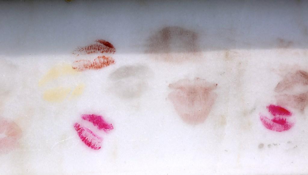 Lipstick on grave