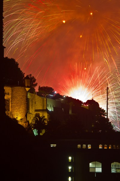 Le Fort Antoine devant le Festival Pyromélodique de Monaco 2014 - Espagne