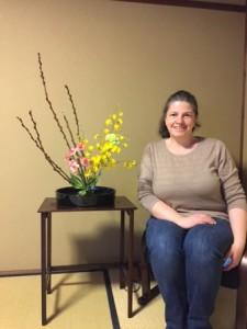 English Ikebana experience in Kyoto