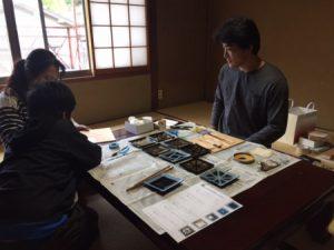 京都 金箔押し体験