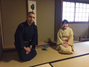 京都で茶道体験 チュニジアより来日