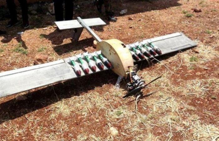 اسقاط طائرة مسيرة مذخرة بقنابل شديدة الانفجار بريف حماة الشمالي