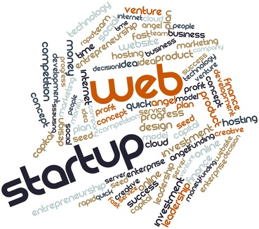 Word cloud for Web Startup