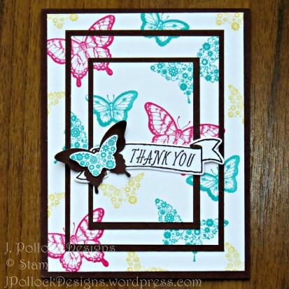 J. Pollock Designs - Stampin' Up! Papillon Potpourri, Triple time stamping