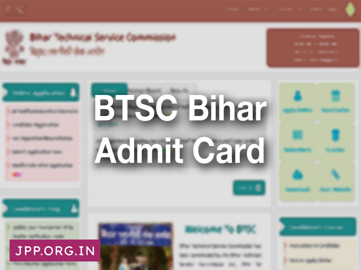 BTSC Admit Card 2019 (Pariksha.nic.in) Exam Date Bihar Staff Nurse & Tutor